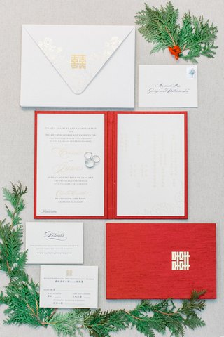 wedding-invitation-suite-for-winter-wedding-red-booklet-invite-white-gold-details-on-invitation-suit