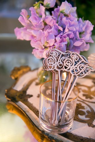 wedding-reception-vow-renewal-ideas-monogram-wood-laser-cut-drink-stirrer-swizzel-stick-cursive