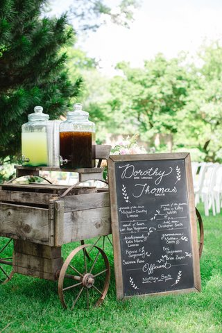 drink-station-on-old-fashioned-wooden-cart-and-chalkboard-sign-lemonade-iced-tea